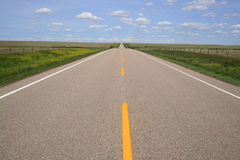 Highway in Southern Alberta Stock Images