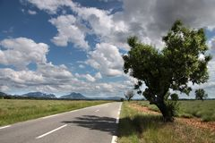 Highway in southern France Stock Photo