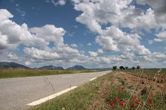 Highway in southern France Royalty Free Stock Photo