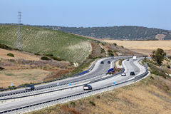 Highway in Spain Royalty Free Stock Photography