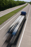 Highway speed. A truck speeding on the highway Stock Photography