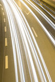 Highway speeding cars Royalty Free Stock Photography