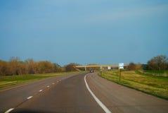Highway. 35 during spring, in Kansas Stock Image