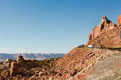 Highway and a Steep Cliff Stock Photography