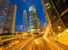 Free Highway Street Or Road In Hong Kong Downtown. Financial District And Business Center In Urban City. Skyscraper And High-rise Stock Photos - 159165923