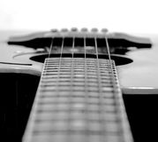 Highway. 6 strings acoustic guitar Royalty Free Stock Images