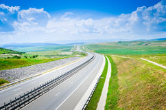Highway during summer Royalty Free Stock Photography