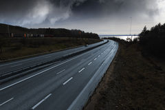 Highway at sundown Royalty Free Stock Photos