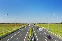 Highway on a sunny day in The Netherlands Royalty Free Stock Image