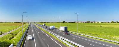 Highway on a sunny day, The Netherlands royalty free stock photos