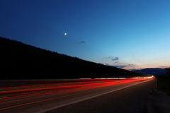 Highway in the sunset Stock Image