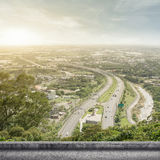 Highway in the sunshine Stock Photo