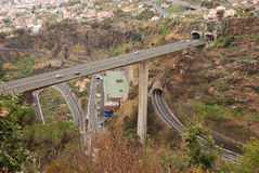 Highway system, madeira, portugal Stock Photos