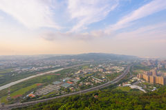Highway in taipei by the sunset Stock Images