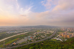 Highway in taipei by the sunset Stock Photography