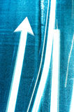 Highway texture with success, blue light Royalty Free Stock Photography