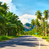 Highway in Thailand Royalty Free Stock Photo
