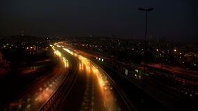 Highway timelapse night. HD 1080i stock footage