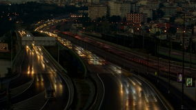 Highway timelapse night. HD 1080i stock video footage