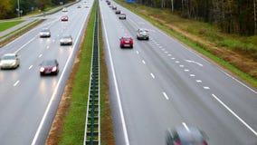 Highway. Timelapse shot. stock video footage