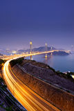 Highway and Ting Kau bridge Royalty Free Stock Photo