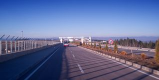 Highway to the airport  Kastamonu Turkey Royalty Free Stock Photo