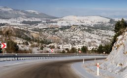 Highway to the airport  Kastamonu Turkey Stock Images