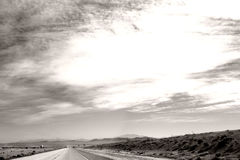 Highway to Barstow Royalty Free Stock Photo