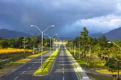 Highway to Boquete, Panama Stock Image