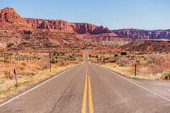 Highway to Capitol Reef Royalty Free Stock Images