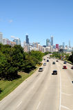 Highway to Chicago Royalty Free Stock Photography