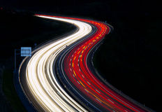 Highway to the city. Royalty Free Stock Images