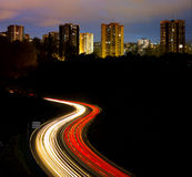 Highway to the city. Royalty Free Stock Photo