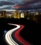 Highway to the city. Stock Photos