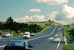 Highway to clouds Royalty Free Stock Photos