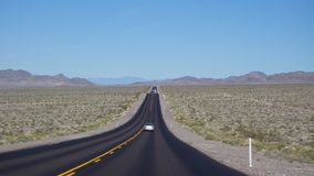 Highway to the Death Valley Stock Photo