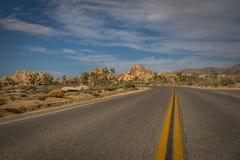 Highway to Desert Views Stock Photo