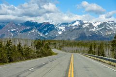 Highway to the Glaciers Royalty Free Stock Image
