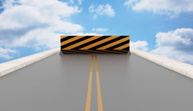 Highway to heaven blocked Royalty Free Stock Photography