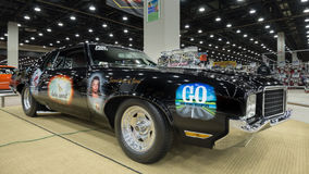 """Highway to Heaven, a 1972 Oldsmobile Cutlass. DETROIT, MI/USA - MARCH 6, 2015: """"Highway to Heaven"""", a 1972 Oldsmobile Cutlass Pro Street racecar, on display at Royalty Free Stock Image"""