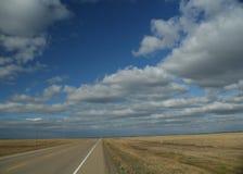 Highway to the horizon. prairies, Alberta,Canada royalty free stock photo