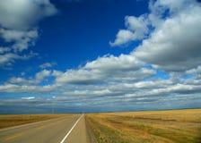 Highway to the horizon Stock Photo