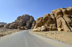 On the highway to Little Petra, Jordan Royalty Free Stock Photos