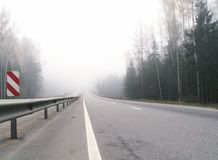 Highway to the mist Stock Photography