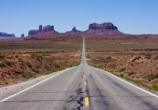Highway to Monument Valley Royalty Free Stock Images