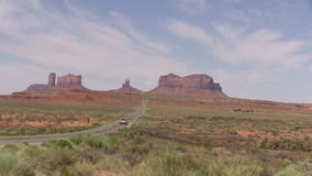 Highway to  Monument Valley stock video footage