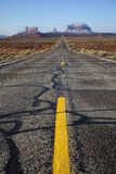 Highway to Monument Valley, Utah, USA Royalty Free Stock Photography