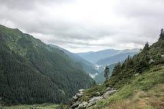 Highway to mountains. Transfagarasan road. Romania Royalty Free Stock Photos