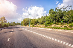 Highway to the mountains Royalty Free Stock Photography