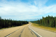 Highway to rocky mountains stock images